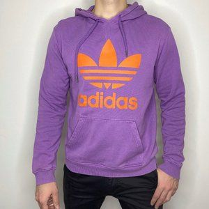 Adidas Spellout Logo Purple Hoodie